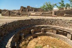Aztek Rujnuje Krajowego zabytek w Nowym - Mexico fotografia stock