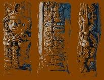 Aztek rzeźba Obrazy Stock