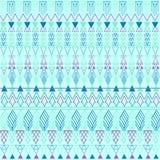 Azteka błękita pastelowy wzór Ilustracji