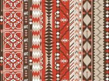 Azteka bezszwowy wzór na gorącym kolorze z strzała Zdjęcie Royalty Free