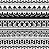 Azteka Etniczny Bezszwowy wzór Trójboka kształta Plemienny Ilustracyjny wektor Wesoło bożych narodzeń motywu projekt w Czarny I B royalty ilustracja