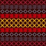 Azteka etniczny plemienny bezszwowy wzór ilustracji