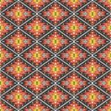 Azteka geometryczny bezszwowy kolorowy wzór Fotografia Stock