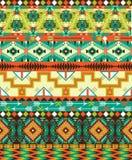 Azteka geometryczny bezszwowy wzór Zdjęcia Royalty Free