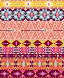 Azteka geometryczny bezszwowy wzór Obrazy Stock
