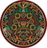 Azteka mandala royalty ilustracja