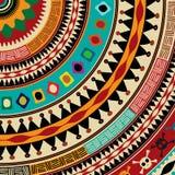 Azteka mandala ikona ilustracja wektor