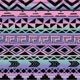Azteka Plemienny Bezszwowy wzór Obrazy Stock