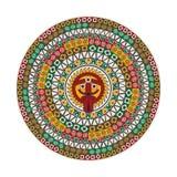 Azteka round motyw Obrazy Royalty Free