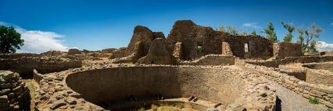 Azteke ruiniert Nationaldenkmal im New Mexiko lizenzfreie stockbilder