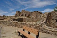 Azteke ruiniert Nationalpark-New Mexiko Stockbild