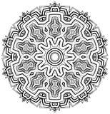 Azteke spornte Mandala an Stockbild