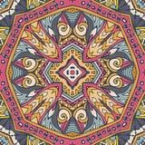 Aztekische geometrische abstrakte Linie nahtloses Muster der Kunst stock abbildung