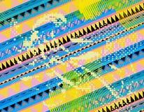Aztekische Musterfarbe stockbilder