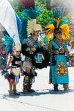 Aztekische Tänzer stockfotos