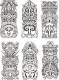 Aztekische Totempfähle Stockbild
