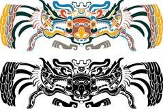 Aztekische Vogelschablone wn zwei Varianten Lizenzfreie Stockfotografie