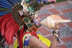 Aztekische Zeremonien stockfotos