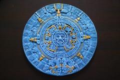 Aztekischer Kalender von Cancun Mexiko Stockbild