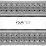 Aztekischer Musterhintergrund mit Leerraum für Ihren Inhalt Stockbilder