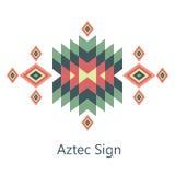 Aztekisches Zeichen des Vektors auf weißem Hintergrund Lizenzfreies Stockfoto