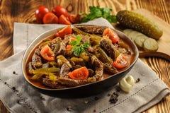 Azu Tatar tradicional do prato imagem de stock royalty free
