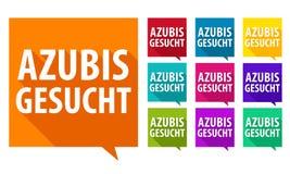 Free Azubis Gesucht. Eps10 Vector Badges. Stock Photo - 109747460