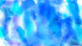 Azuis bonitos, ciano, pontos coloridos dos azuis celestes aparecem em um fundo branco gr?fico do movimento 4K ilustração royalty free