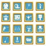Azuis celestes mágicos dos ícones ilustração royalty free