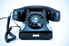 azuis do telefone da era dos anos 40 Fotos de Stock Royalty Free