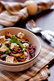 Azuki bean salad with tofu and vegetables Stock Images