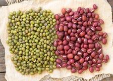 Azuki beans and mung beans Royalty Free Stock Photo