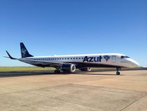 Azul航空公司飞机 库存图片