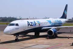Azul巴西人航空公司 库存图片