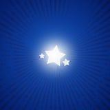Azul 01 de la estrella Imágenes de archivo libres de regalías