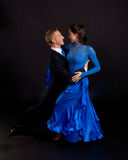 Azul 06 de los bailarines del salón de baile Imagen de archivo libre de regalías