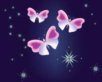 Azul 2 da borboleta ilustração do vetor