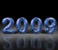 Azul 2009 Imagens de Stock Royalty Free