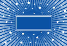 Azul abstracto del fondo con las estrellas blancas Imagen de archivo libre de regalías