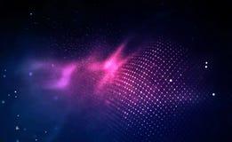 Azul abstracto del fondo de la m?sica El equalizador para la m?sica, mostrando ondas ac?sticas con m?sica agita, equalizador del  ilustración del vector