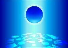Azul abstracto del fondo de la tecnología Imagen de archivo