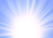 Azul abstracto del fondo del rayo Imagen de archivo