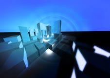 Azul abstrato da cidade ilustração stock