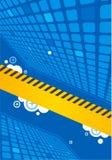 Azul abstrato da ilustração do vetor Fotos de Stock