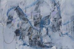 Azul abstrato da textura dos grafittis Fotografia de Stock
