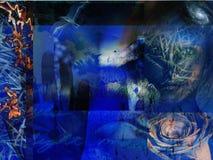 Azul abstrato de Grunge Fotografia de Stock Royalty Free