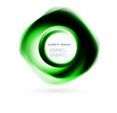 Azul abstrato do círculo do vetor. curva ilustração royalty free