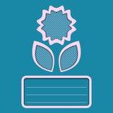 Azul abstrato do cartão da flor Foto de Stock Royalty Free