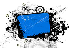 Azul abstrato do fundo Foto de Stock Royalty Free