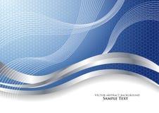 Azul abstrato do fundo do vetor Foto de Stock Royalty Free
